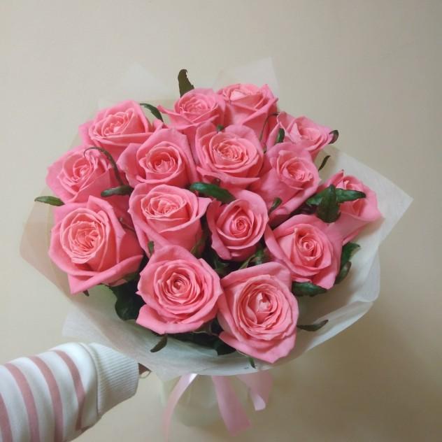 Нежная роза 15шт